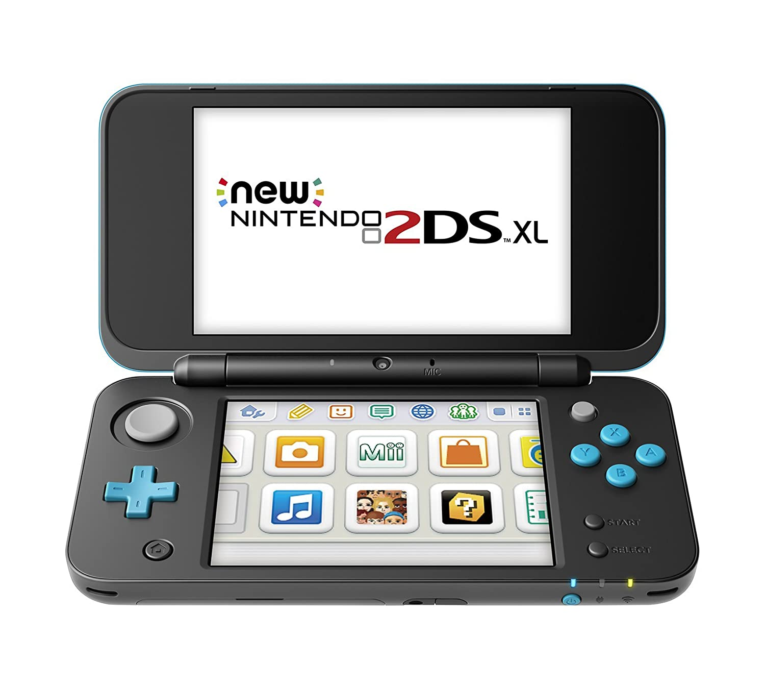 Nintendo New 2DS XL - Black + Turquoise (Renewed): Video Games