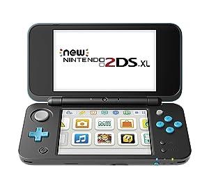 Nintendo New 2DS XL - Black + Turquoise (Renewed)