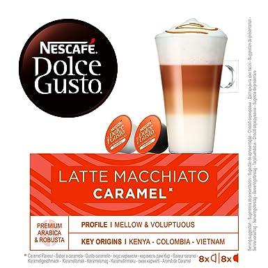 Nescafe Dolce Gusto - Macchiato para café (caramelo, 8 ...