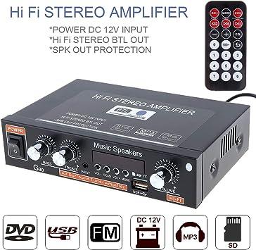 Auto Audio Verstärker Fm Radio Player Unterstützt Sd Elektronik