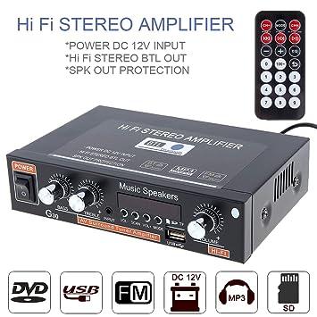 Amplificador de Potencia de Audio para Coche, Reproductor de ...