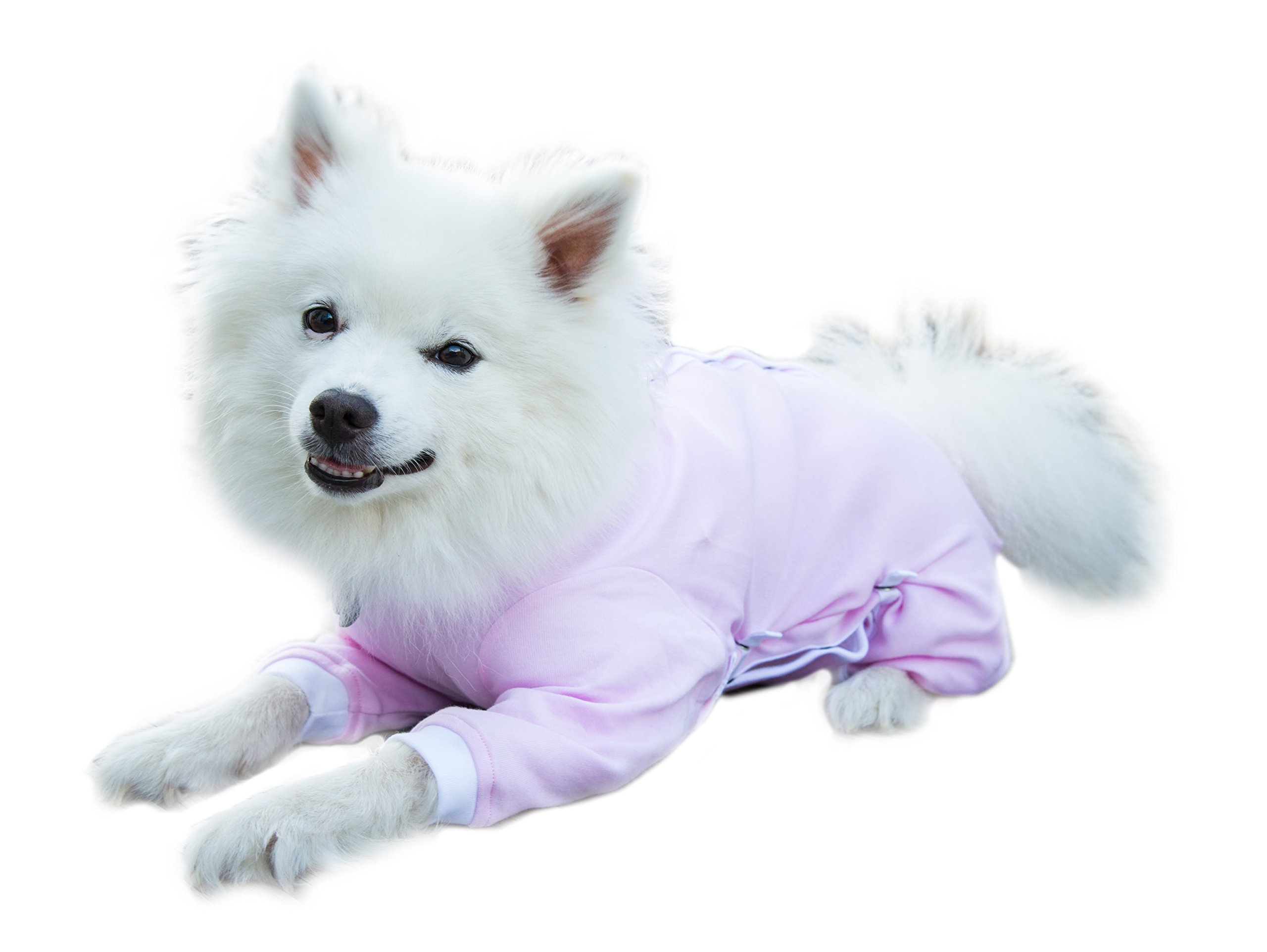 Cover Me by Tui Medical Pet Shirt Recovery Shirt Adjustable Fit Step-into with Short Sleeve for Pets, Medium, Pink by Cover Me by Tui  Adjustable Fit