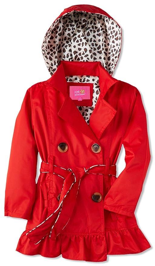 7b6f0e289 Pink Platinum Little Girls  Toddler Leopard Lining Trench Raincoat ...