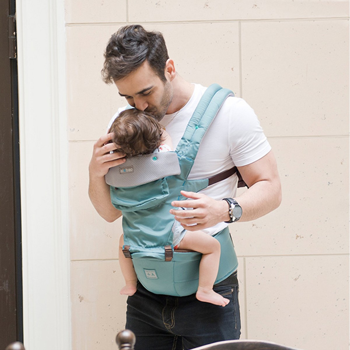 Yellow SONARIN Four Seasons Ergonomic Hipseat Baby Carrier,Oxford Cloth 100/% Infinity Guarantee,Ideal Gift Breathable mesh Backing,Free Size,Adapted to Your Childs Growing 6 Carrying Positions