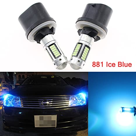 Pair Car Led Bulbs H11 H8 For Auto Fog Driving Light Lens Projector Lamp Foglight Trim Accessories Parts White Color Style Car Lights Car Fog Lamp