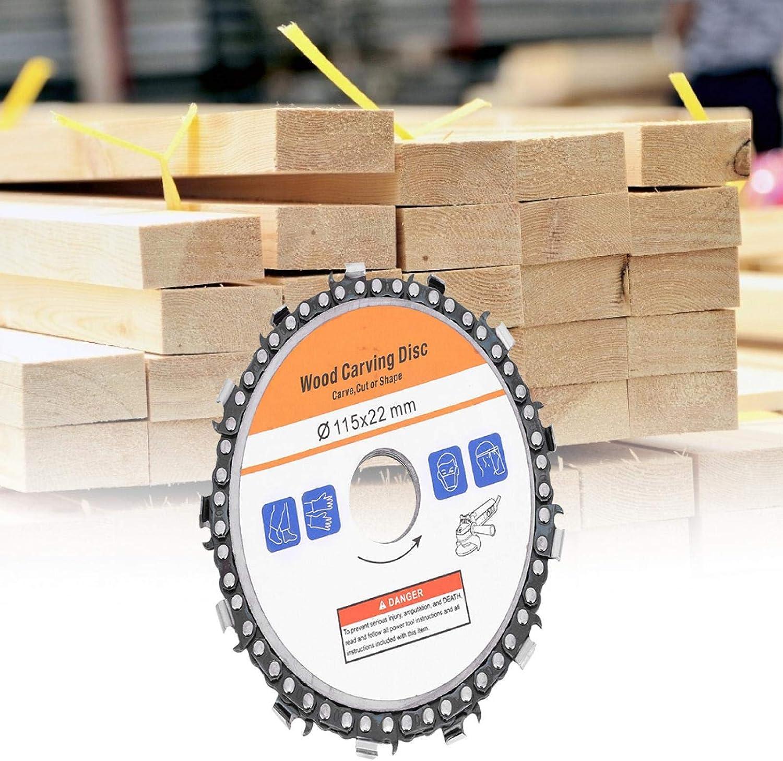 accesorios de carpinter/ía de disco de forma fina de dientes para corte de talla de madera Disco de cadena de talla de madera de 4,5 pulgadas