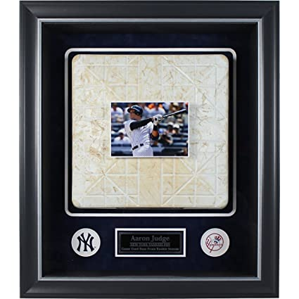 Aaron Judge Framed Rookie Season Game Used Base Collage W2017