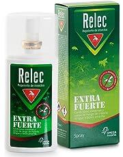 Relec Extra Fuerte Spray Repelente Antimosquitos Fuerte y Eficaz, 9 horas de Protección, Repelente de Insectos para Zonas de Riesgo de Malaria, Dengue y Fiebre Amarilla - 75 ml