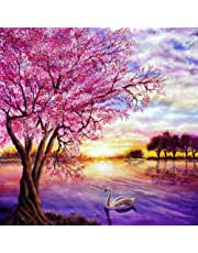 Alto Crafto | DIY Paint by Numbers Landscape w/Impressionist-Style Pastoral Scene | Pre-Printed Art-Quality Canvas