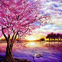 """Paint by Numbers Kit for Adults by Alto Crafto DIY Paint by Numbers Landscape w/ Impressionist-Style Pastoral Scene Pre-Printed Art-Quality Canvas, 3 Brushes, 24 Acrylic Paints Included, 20"""" x 16"""""""