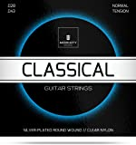 Gitarrensaiten Konzertgitarre ★ Premium Nylon Saiten für klassische Gitarre & Akustikgitarre (6 Saiten-Set) + E-Book