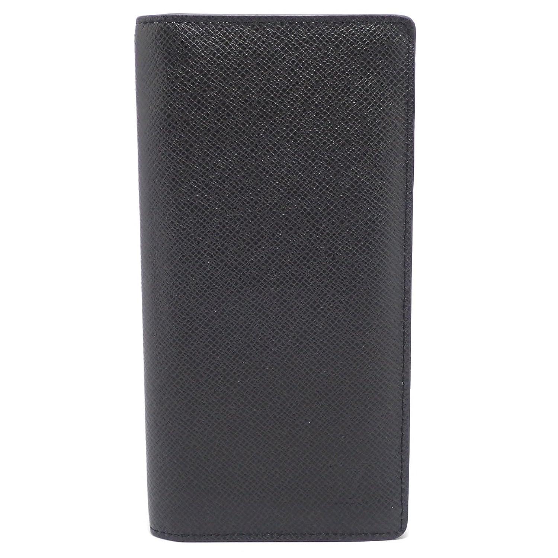 [ルイ ヴィトン] LOUIS VUITTON タイガ ポルトフォイユ ブラザ 2つ折長財布 カーフ レザー アルドワーズ 黒 ブラック メンズ M32572 B07FMN8RCB  -