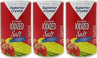 product image for Salt Superior Crystal The Finer Iodised Salt, 3 Pack Each 26 Oz