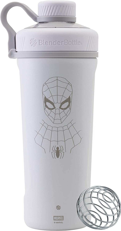 BlenderBottle C04267 Marvel Comics Radian Insulated Stainless Steel Shaker Bottle, 26-Ounce, Spider-Man