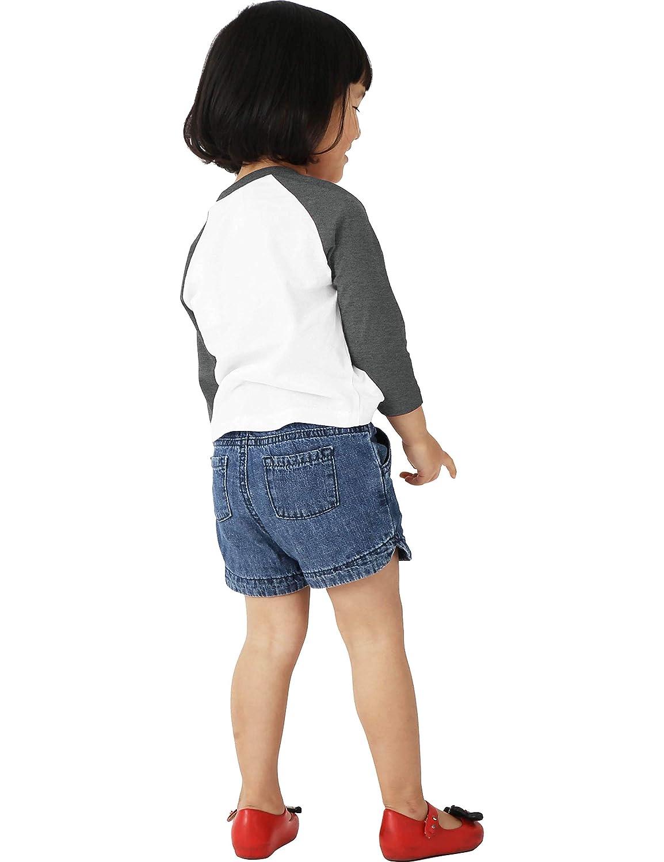 Ma Croix Infants /& Juniors 3//4 Raglan Sleeve Baseball Shirt Slim Comfort Fit Jersey Kids Toddlers Tee