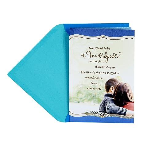 Hallmark VIDA Spanish Romantic Fathers Day Card for Husband / Tarjeta Romántica del Día del Padre Para el Marido (Importancia de la Familia)
