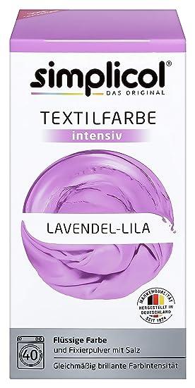 Simplicol Textilfarbe intensiv (18 Farben), Lavendel Lila 1807: Einfaches Färben in der Waschmaschine, All-in-1 Komplettpacku