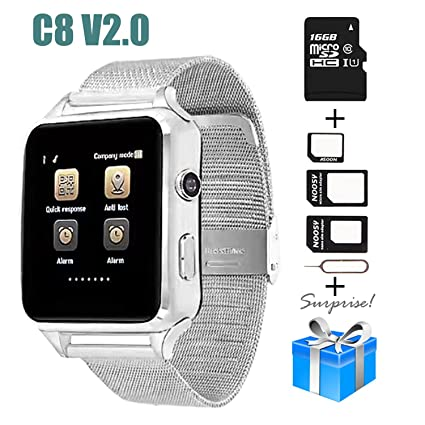 Smartwatch, Collasaro Sweatproof Smart Watch Phone with Camera and SIM Card Slot, Smart Watch for Android Samsung LG Sony HTC Oppo Smartphones