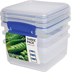 Sistema KLIP IT Rectangular Collection Lunch Plus Storage Containers, 6-Piece