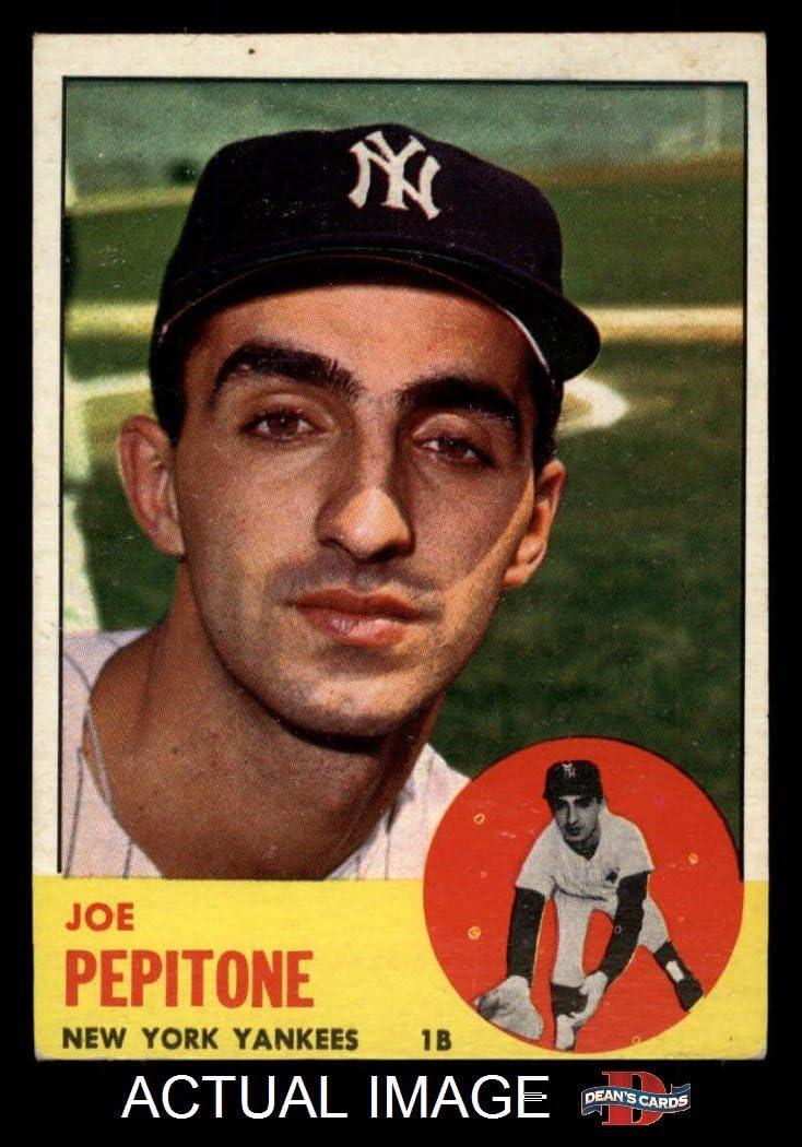 B00FCLR4O2 1963 Topps # 183 Joe Pepitone New York Yankees (Baseball Card) Dean's Cards 5 - EX Yankees 71K7VO9LjuL
