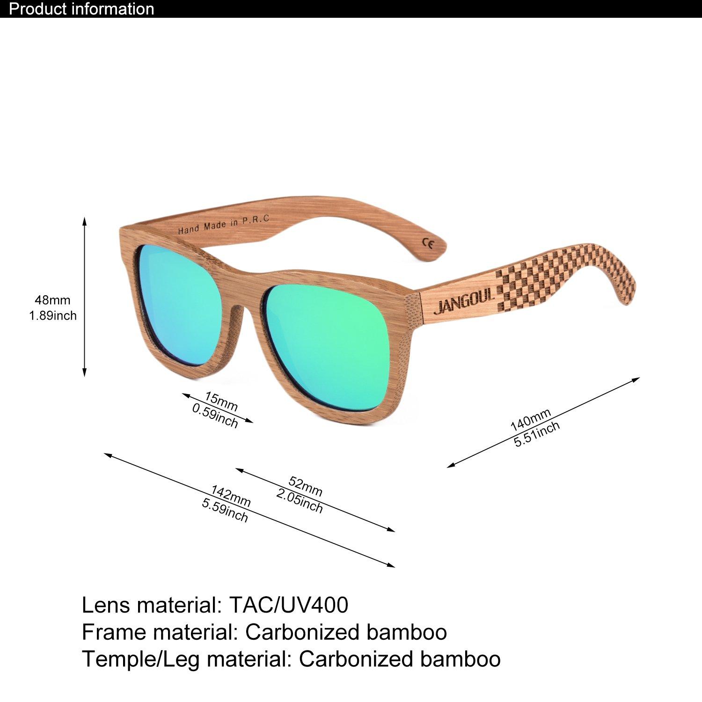 Amazon.com: Jangoul - Gafas de sol polarizadas con marco de ...