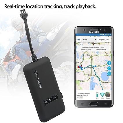 SODIAL Localizador en tiempo real del perseguidor del coche GPS Mini GT02 Dispositivo de seguimiento del GPS del GPS Vehiculo / camion / furgoneta: ...