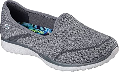 Skechers Microburst-All Mine, Zapatillas Para Mujer, Gris (Grey), 36 EU