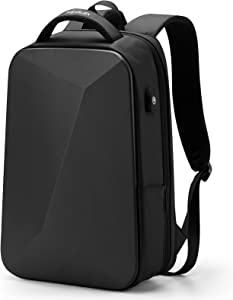 FENRUIEN 35L 15.6-Inch Laptop Backpack,Expandable Slim Business Notebook Rucksack with Anti-Theft Lock,Water-Repellent Bookbag with USB Port,Black