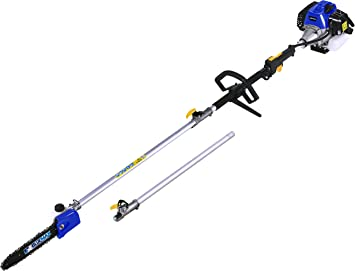 BLUE MAX Gasoline Pole Saw - Quiet Operator