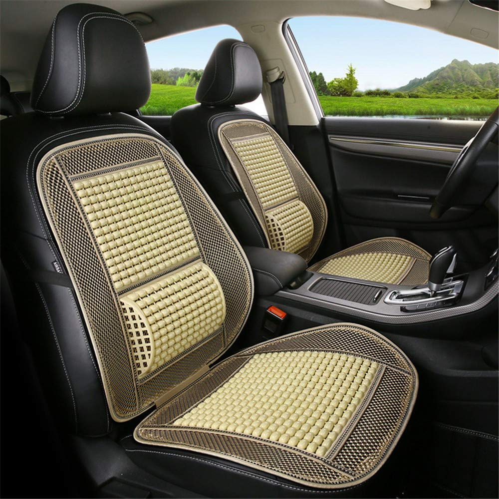 Brown GLITZFAS 1 PC Universal Holzperlen Autositz Sitzauflage Sommer Coole Kissen,Breathable Bel/üftung Bequeme Massage R/ückenst/ütze Lordosenst/ütze