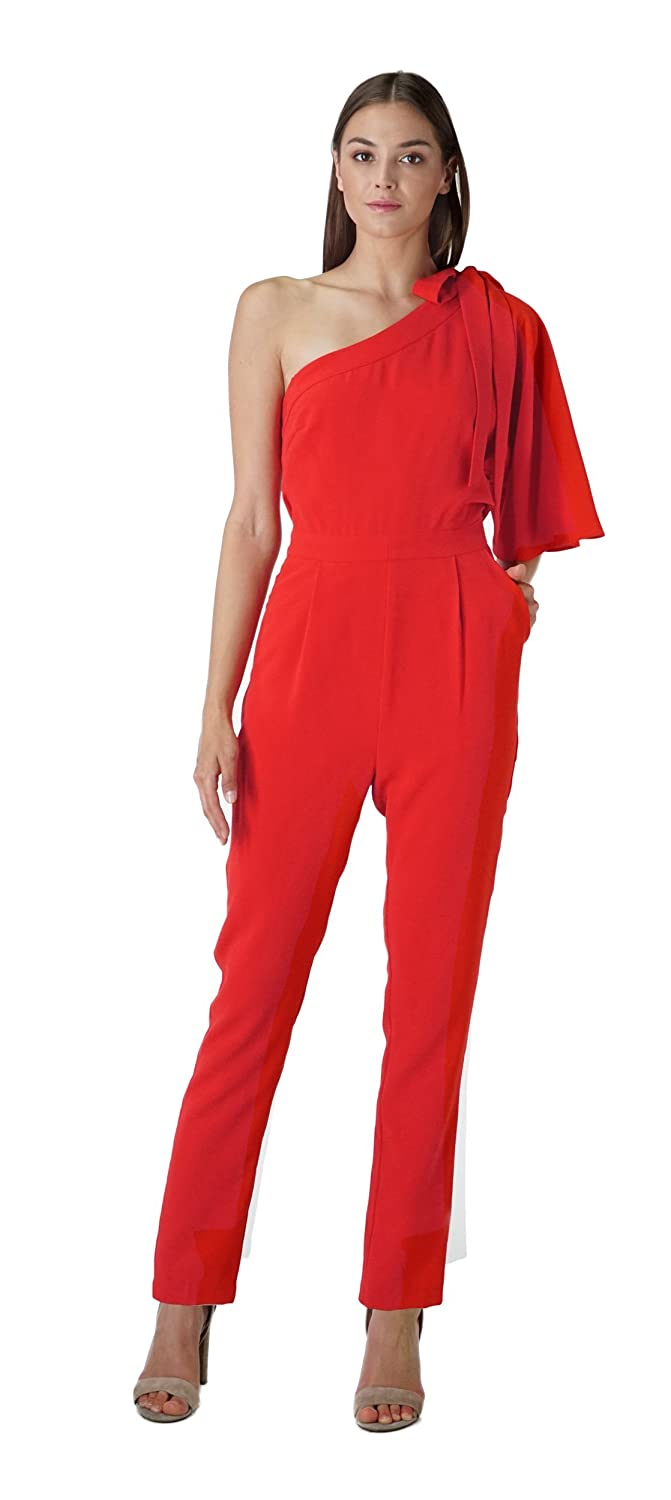 636861f2b410 Amazon.com  Adelyn Rae Willow One-Shoulder Jumpsuit  Clothing