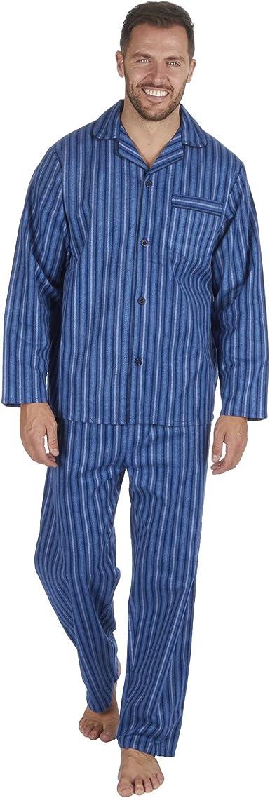 Cargo Bay Hombres Cepillado Pure 100% Pijama algodón Invierno cálido Franela térmico M/L/XL/XXL