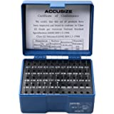 Accusize Industrial Tools 0.011'' to 0.060'', 50 Pc Steel Plug Pin Gage Set, Minus, Class Zz, M0(-)