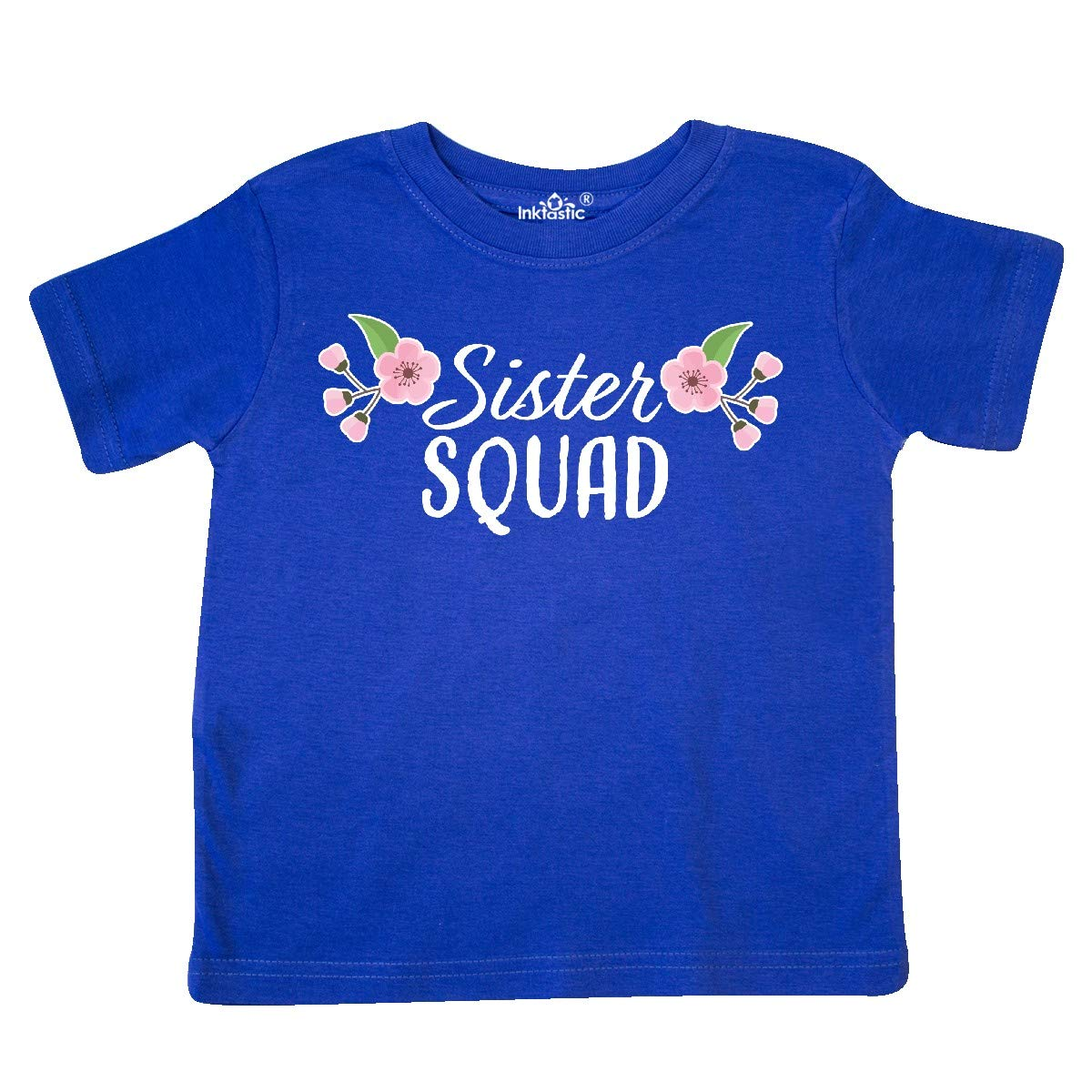 inktastic Sister Squad with Cherry Blossom Flowers Toddler T-Shirt