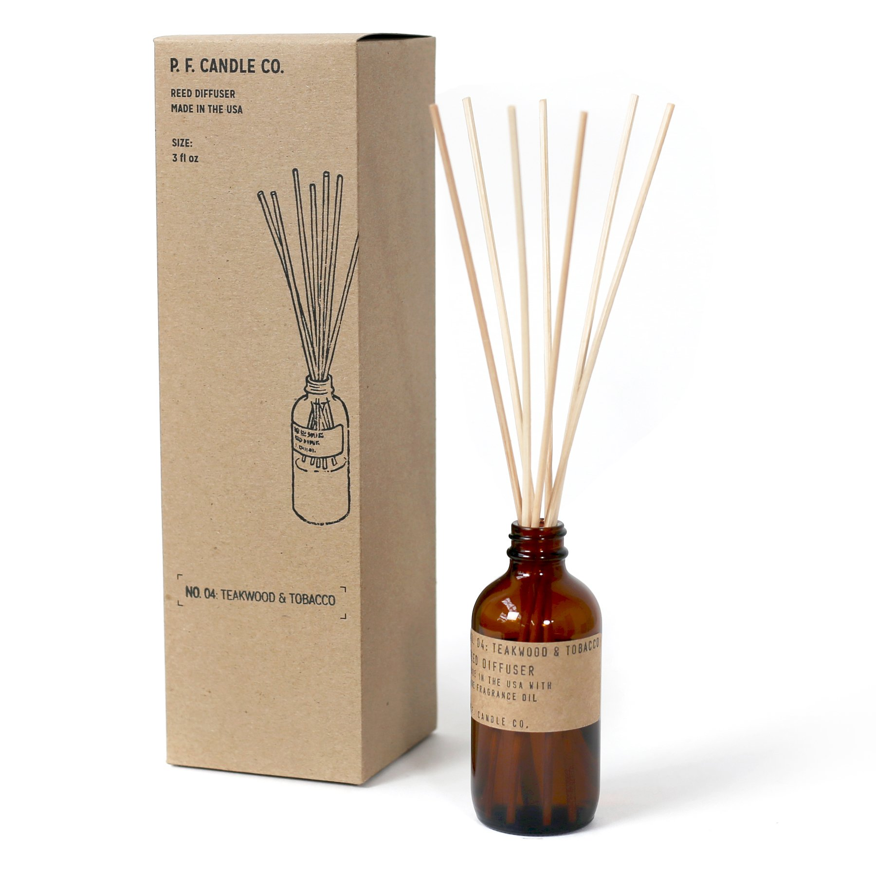 P.F. Candle Co. - No. 04: Teakwood & Tobacco Diffuser by P.F. Candle Co. (Image #2)