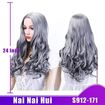 Amazon.com   Women Natural Curly Black Hair Wigs Synthetic Heat Resistant  171 24inches   Beauty 2f440f324