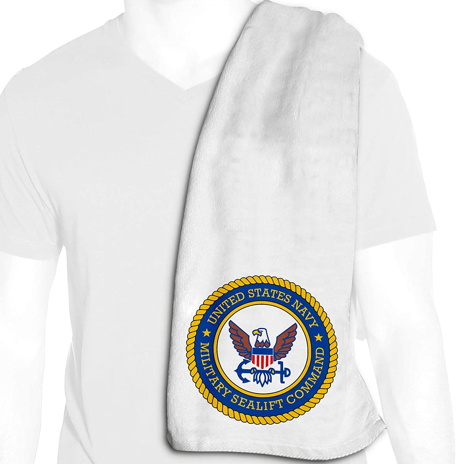 ExpressItBest Microfiber Cooling Towel - 12in x 36in - US Navy Divisions - Many Options