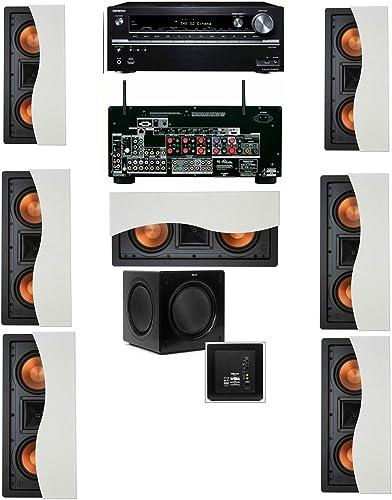 Klipsch R-5502-W II(7) In-Wall Speaker 7.1 SW-310 Onkyo TX-NR838 7.2