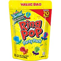 Ring Pop Individually Wrapped Variety Party Pack – 20 Count Candy Lollipop Suckers w/ Assorted Flavors-Easter Gift Basket Stuffers