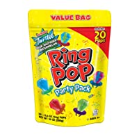 Ring Pop Individually Wrapped Variety Party Pack – 20 Count Candy Lollipop Suckers...