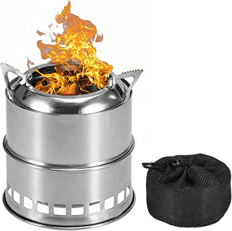 Kikilive - Horno de leña portátil, hornillo de acero ...
