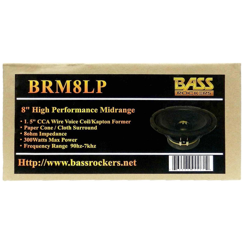 Bass Rockers 8 300W High Performance Mid-Range Car Speaker BRM8LP