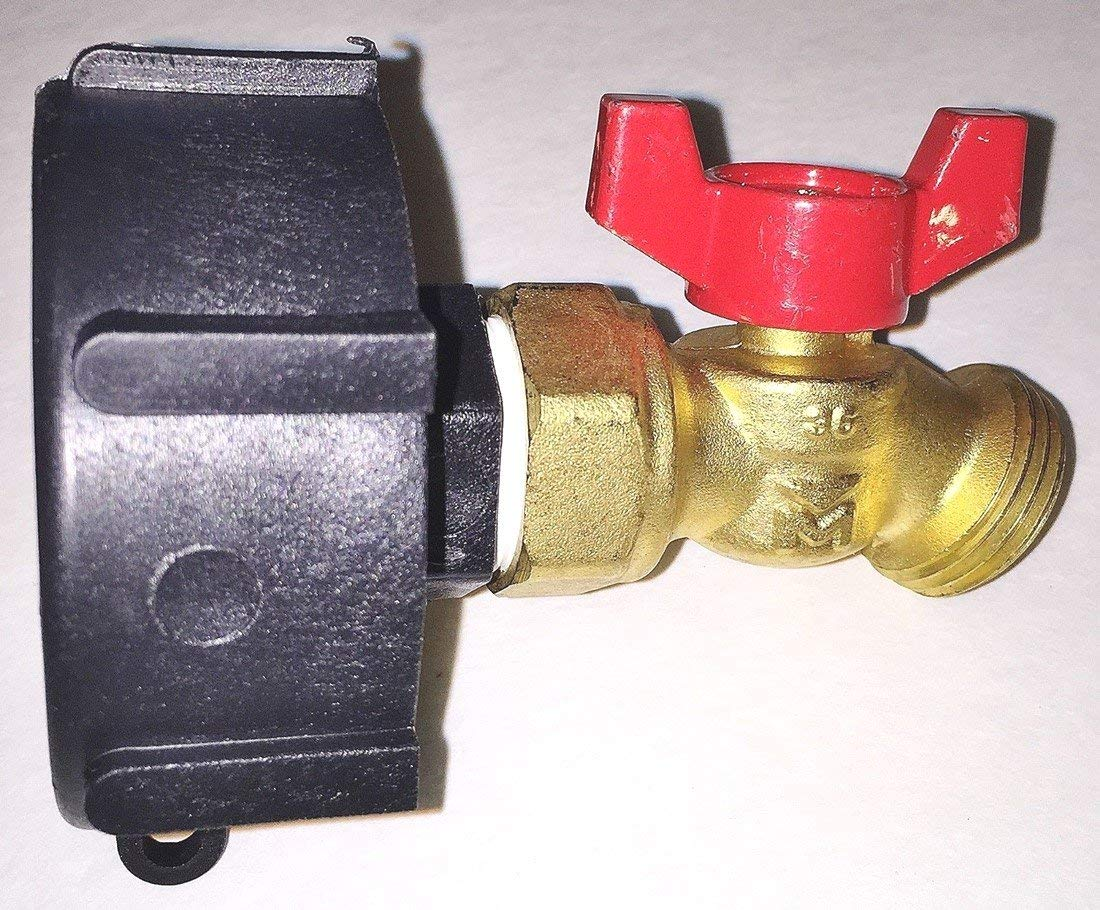 275 330 IBC TOTE TANK DRAIN ADAPTER 2'' COARSE Thread x BRASS Hose FAUCET VALVE by Generic