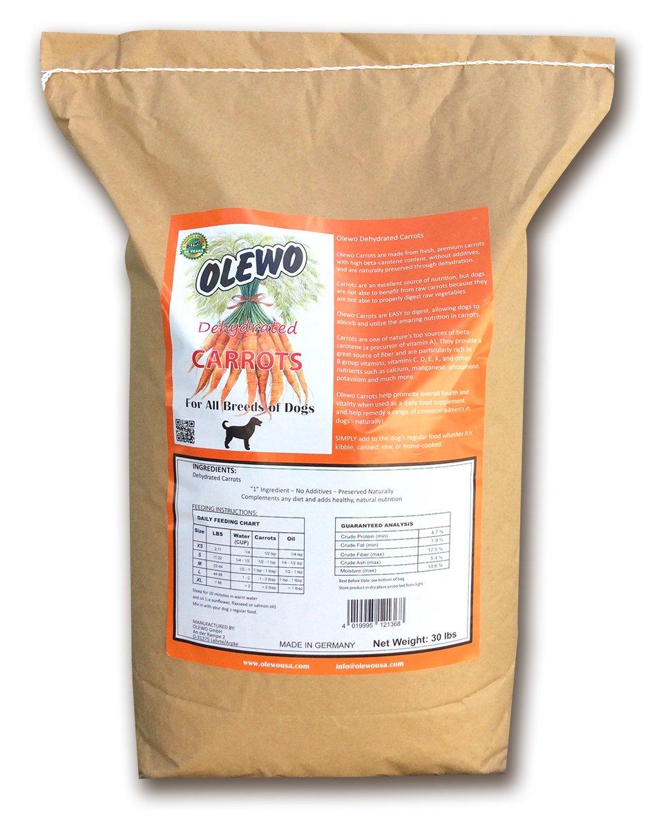 Olewo Carrots Dog Food Supplement - Breeder Bag 30 Pounds