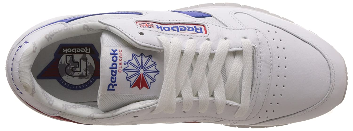 d1871a9b4f4d Reebok Men s Classic Leather So Trainers Running Shoes BS5210 -  White Blue Red  Amazon.co.uk  Shoes   Bags