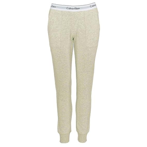 6a6567cb3ddbe Calvin Klein Women Modern Cotton Jogger, Snow Heather - Neon Neps ...