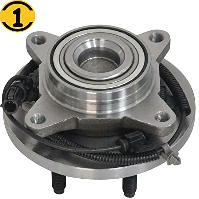 (2WD) Front Wheel Bearing Hub Assembly Fit Ford F-150 2009 2010 Hub Bearing w/ABS 6 Lugs, RWD, Replace 515117: Automotive