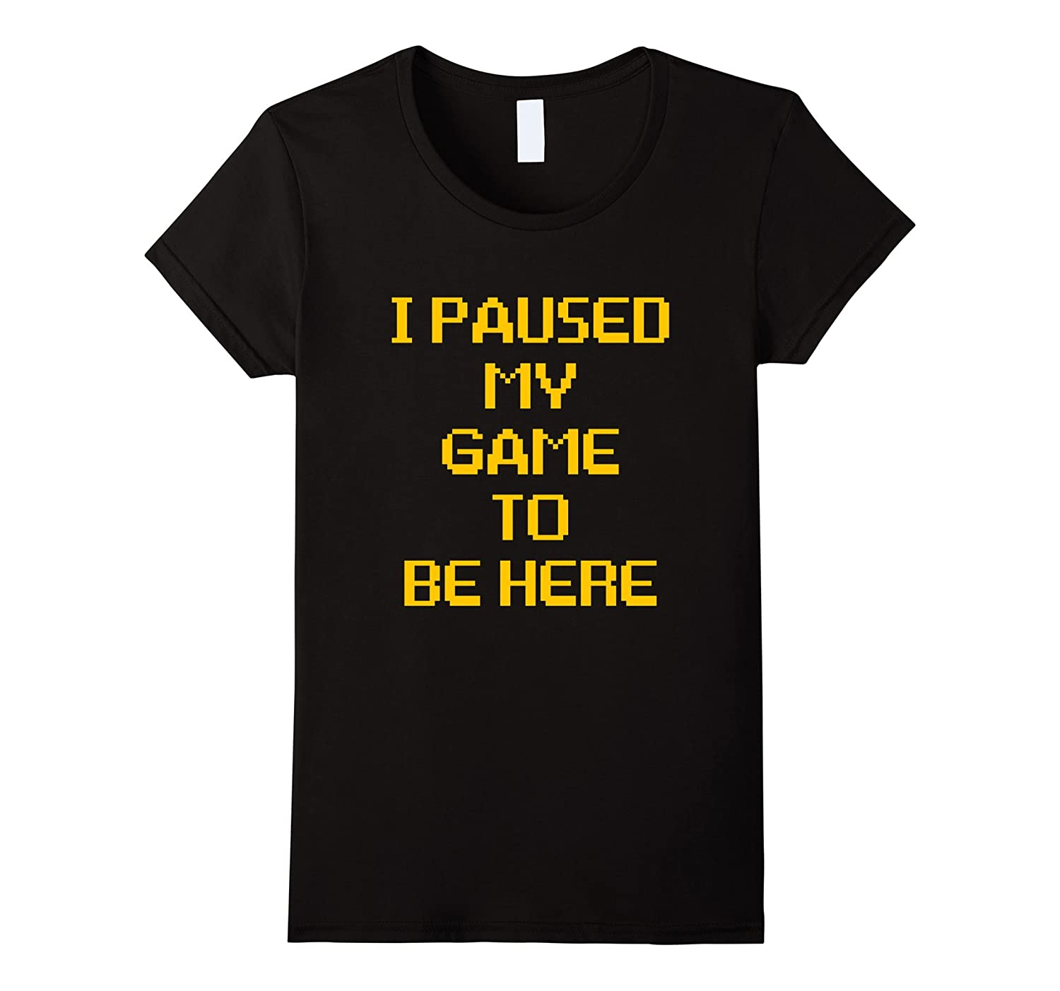 Paused Funny Gaming T Shirt Large-Tovacu