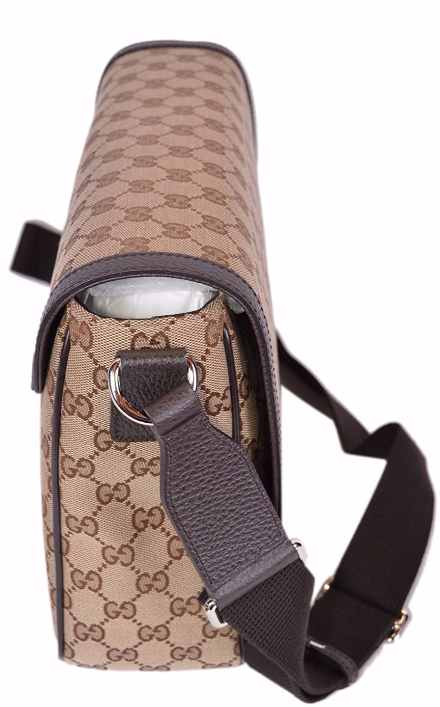 f55fe1061fa Amazon.com  Gucci GG Guccissima Canvas Large Crossbody Messenger Bag  (449171 Beige)  Shoes