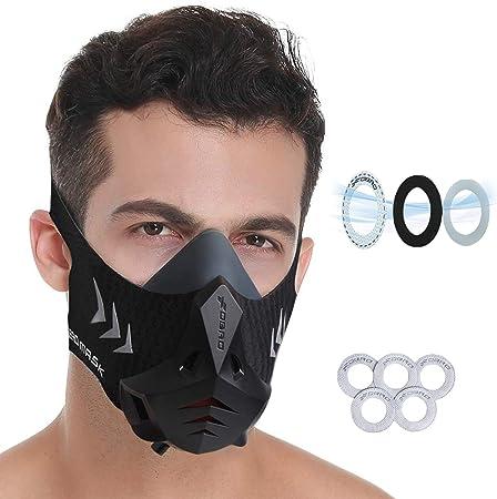 FDBRO máscara deportiva elevación Running mochila para gimnasia Estilo negro